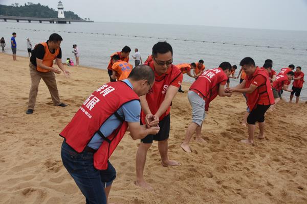 北京润美康医药沙滩拓展训练营